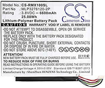 Compatibe for Verizon Ellipsis 10 Ellipsis 10 XLTE Replacement Tablet Batteries with MLP3276120-2P 6600mAh // 25.08Wh QTAIR7