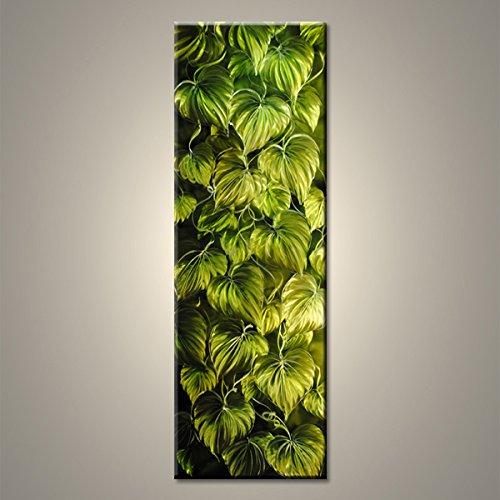 【現代アート工房】 メタルアート 現代絵画 立体感のあるモダンアート ハンドメイド作品 ナチュラルライン 植物B 2FMA-393 40×120cm B01NBV2KEU植物B