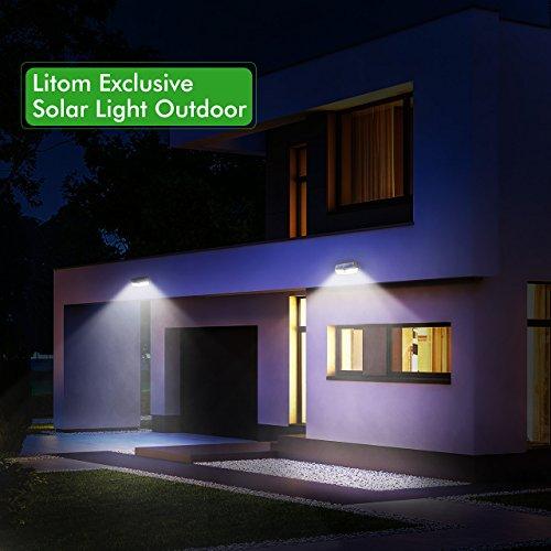 superb exterior house lights 4. Litom Solar Lights Outdoor, 4th Generation 30 LED Super Bright Motion Sensor With Superb Exterior House 4 Q