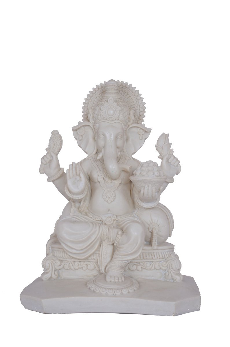 Trusted Seller 13 Inches BIG Large Ganesh Statue Figure Sculpture Handmade of Marble Art Home Decor Best Gift India Special Handicraft