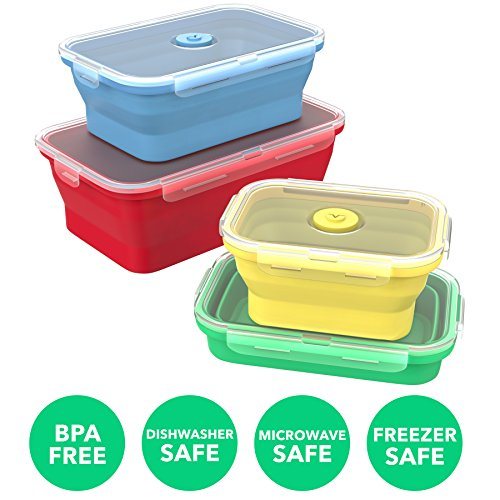 Best Vremi Silicone Food Storage Containers With Bpa Free