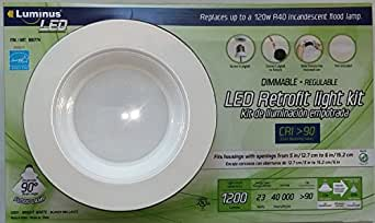 Luminus led dimmable retrofit light kit close to ceiling - Retrofit bathroom fan with light ...