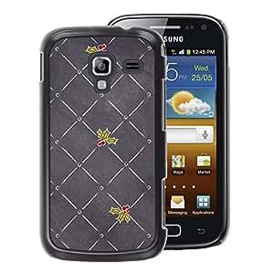 A-type Arte & diseño plástico duro Fundas Cover Cubre Hard Case Cover para Samsung Galaxy Ace 2 (Grey Mistletoe Christmas Love)