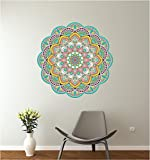 24'' Mandala Ethnic Floral #4 Mural Panoramic Wall Decal Sticker Removable Reusable Ornament Meditation Home Office Teen Bedroom Decor