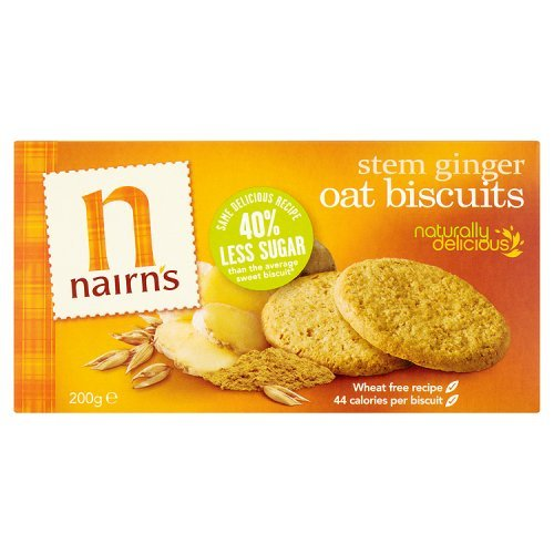 Nairn's Stem Ginger Oat Biscuits, 7.1-Ounce Boxes (Pack of 6)