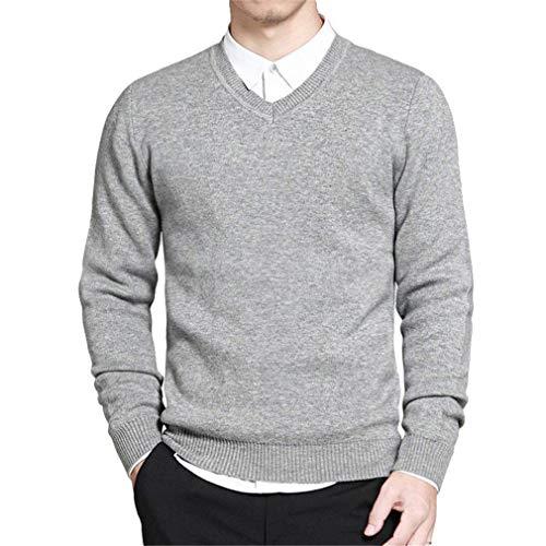 Style Pull Tricoté Homme Gris Simple Bleu Rouge V Col Hommes Coton Pullover Essentiel Noir w5FwaqCfR