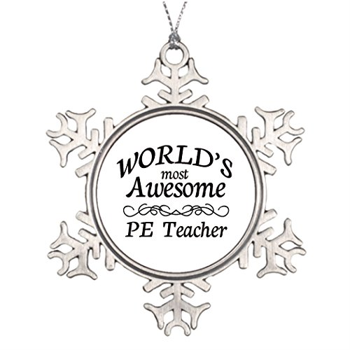Ideas For Decorating Christmas Trees World's Most Awesome PE Teacher Outdoor Snowflake Ornaments (Outside Decorating Ideas)