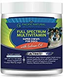 Pacific Natural: Full Spectrum Daily Multivitamin for Dogs - 90 Soft Chews - Made with Salmon Oil - Support Hip & Joint Mobility - Aid in Immune System Health - Help Nourish Dry, Itchy Skin