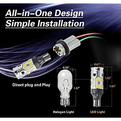 LASFIT 921 912 T15 CANBUS Error Free LED Reverse Back Up Light Bulb, White Light, New Upgrade Design,2 pack: Automotive