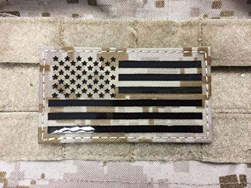 (Infrared IR US Flag Patch (AOR1) Devgru Navy SEALs NSW NWU)