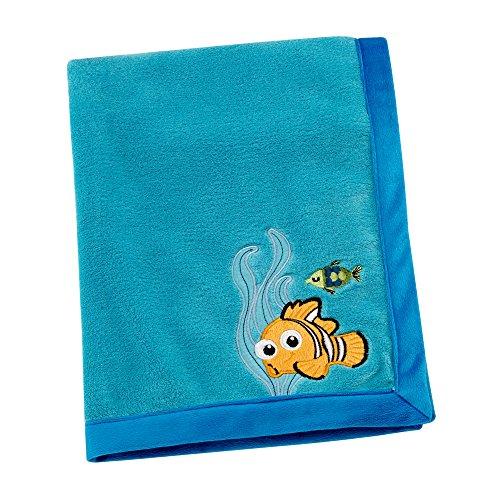 Finding Nemo Wash (Disney Finding Nemo Appliqued Coral Fleece Blanket, Blue)