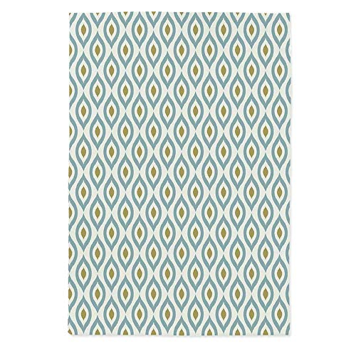 Geometric No Fading Tablecloth,Retro Tribal Ikat Oval Shapes Vintage Damask Inspired Motifs Faded Colors Decorative for Table Outdoor Picnic Holiday Dinner,60''W X 84''L
