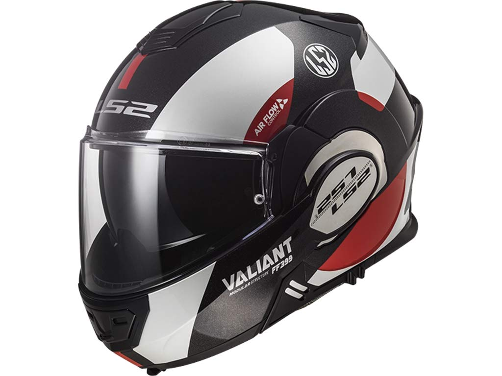 LS2 Casque moto VALIANT LINE MAT Noir HI VI Jaune Noir//Jaune Taille L L
