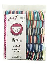 12/24/36/60 Pack: Babybug Girls Briefs Panties - 100% Cotton - Striped