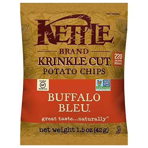 Kettle Brand Krinkle Cut Potato Chips, Buffalo Bleu, 1.5 Ounce (Pack of (Krinkle Cut Potato Chips)