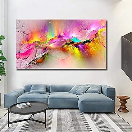 haotong11 Impreso Pintura Al Óleo Dropshipping Impresiones de la Lona para la Sala de Estar de Pared Sin Marco Moderno Cuadros Decorativos Arte Abstracto Pintura 58 * 120 cm