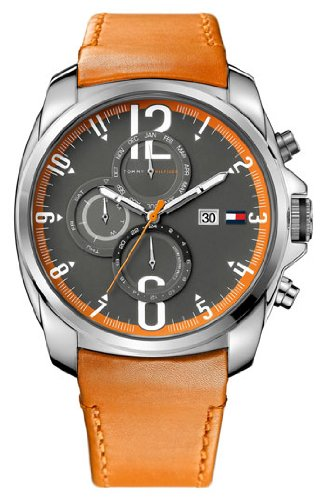 Tommy Hilfiger 'Sport' Multifunction Leather Strap Watch
