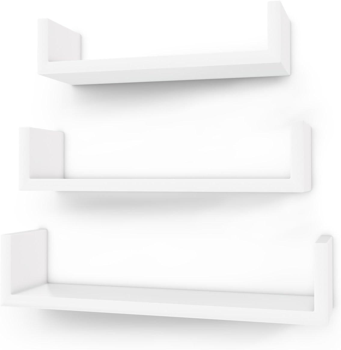 cucina Nero stanza dei bambini,Legno MDF Sunon Mensola da Muro Mensola Sospesa 61 x 31,5 x 7,6 cm per ufficio bagno
