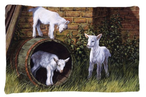 Multicolor Carolines Treasures Horses Eating Hay in The Snow Fabric Standard Pillowcase BDBA0297PILLOWCASE