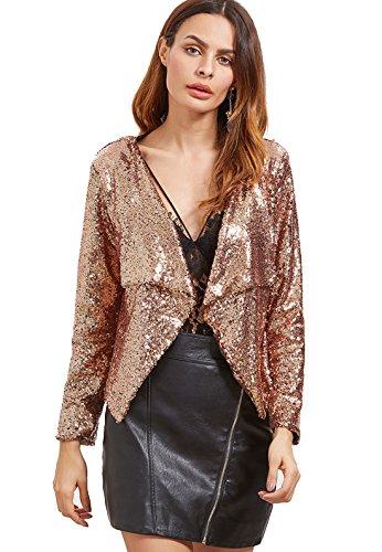 Verdusa Womens Chain Sequin Blazer