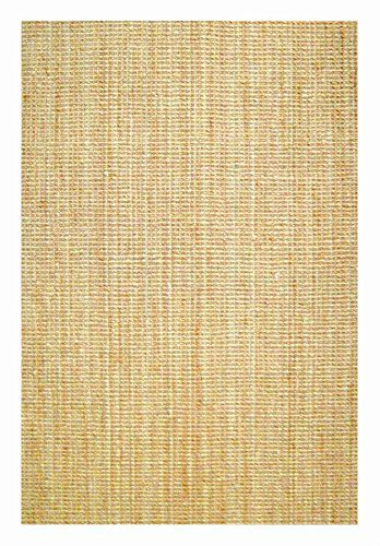 Natural Boucle Woven Hand Spun Jute Area Rug w Tufted Ends (3 ft. x 5 ft.)