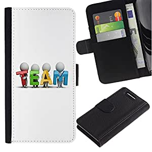 Planetar® Colorful Pattern Flip Wallet Leather Holster Protective Skin Case Cover For Sony Xperia Z1 Compact / Z1 Mini / D5503 ( TEAM )