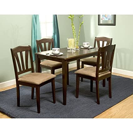 Amazon Com Metropolitan 5 Piece Dining Set Table Chair Sets
