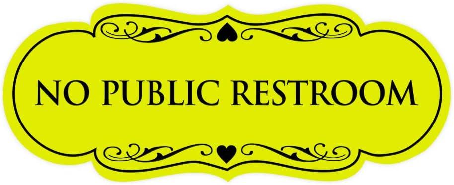 Navy Blue//White Signs ByLITA Designer No Public Restroom Sign Medium