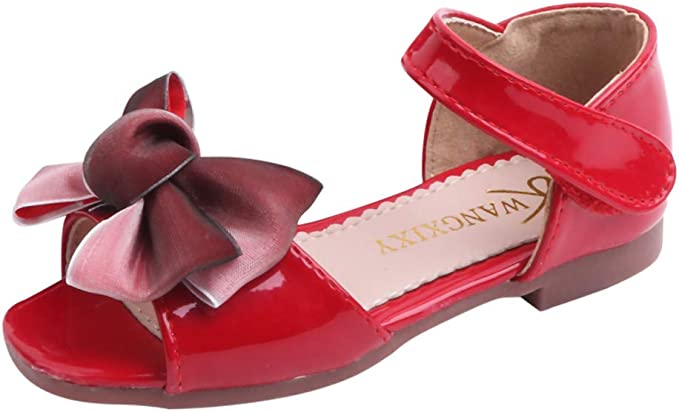 LANSKIRT_Zapatos de Princesa Sandalias de Vestir En Cuero Zapato de Playa Moda Fiesta Sandalias Niña Verano Princesa Patucos de Dulce Bowknot Individual Calzado Elegante: Amazon.es: Ropa y accesorios