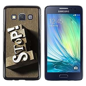 LECELL -- Funda protectora / Cubierta / Piel For Samsung Galaxy A3 SM-A300 -- Stop Vintage Sign --