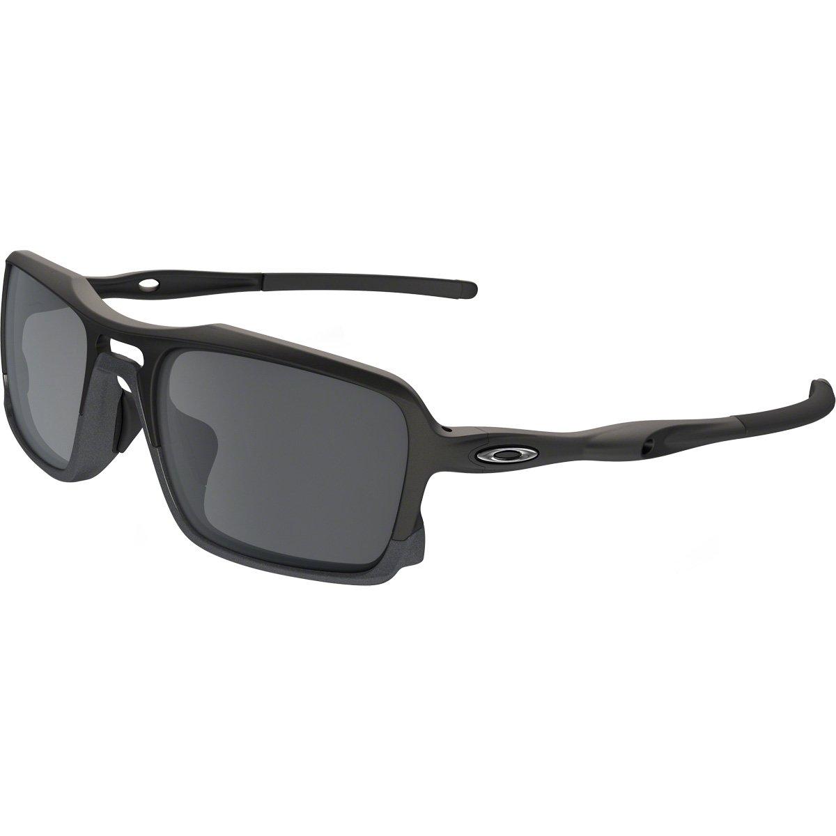 Oakley Men's OO9266 Triggerman Rectangular Sunglasses, Matte Black/Black Iridium, 59 mm by Oakley
