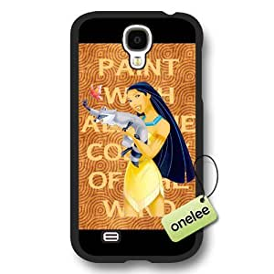 Disney Cartoon Movie Pocahontas Frosted Phone Case & Cover for Samsung Galaxy S4 - Black