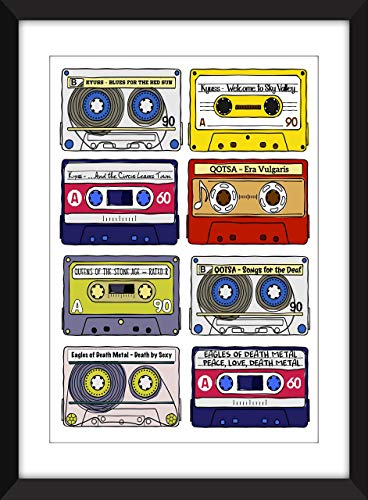 Josh Homme Albums Print - Kyuss/Queens of the Stone Age/Eagles of Death Metal Albums - Ideal Gift for Josh Homme Fan