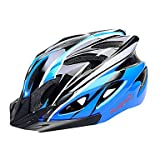 QHY FJQXZ EPS+PC Blue and Black Integrally-molded Cycling Helmet(18 Vents)