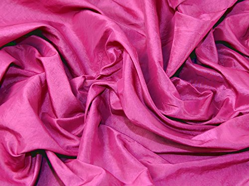 Crushed Textured Shot Taffeta Dress Fabric Cerise Pink - per metre
