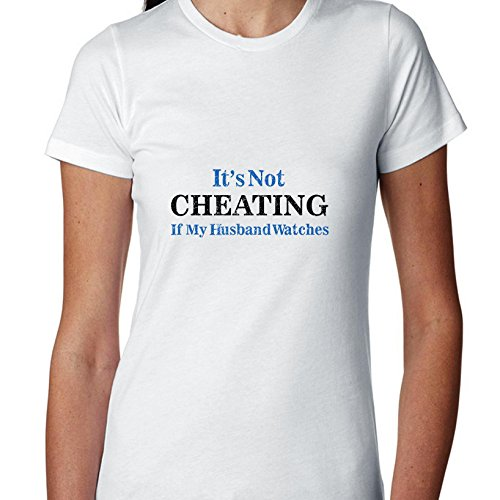 Hollywood Thread It's Not Cheating If My Husband Watches Women's Cotton T-Shirt