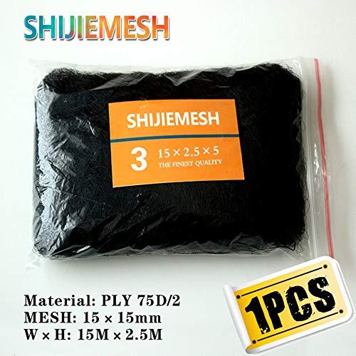 15M x 2.5M 15mm Mist net Bird Garden Polyester 75D 2 Bird Trap Anti Bird Mist Net 5pcs   Black