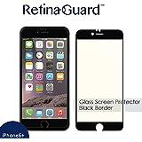 RetinaGuard Anti-blue Light Tempered Glass Screen protector for iPhone6S Plus / 6 Plus (Black border) - SGS & Intertek Tested - Blocks Excessive Harmful Blue Light, Reduce Eye Fatigue and Eye Strain