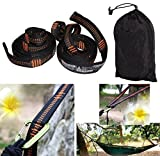 The iSKYS Atlas Hammock Hanging Strap System is the simply the best hammock hanging strap system out there. And that is because they are made of polyester and do not stretch. Oh wait! They have more places to hook a hammock than anyone else (15ea =30...