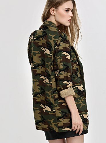 Donne Invernale Camuffare Camouflage Camo Militare Giacca Escalier 4PwpB