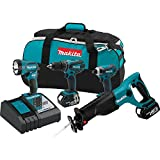 Makita XT407 18V Lithium-Ion Cordless Combo Kit, 4-Piece (Discontinued by Manufacturer)