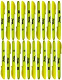 Bulk Sharpie Accent Pocket-Style Highlighters Fluorescent Yellow Chisel Tip 24 ct
