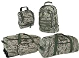 Air Force ABU 4 Piece Travel Kit: Deployment Bag, 3 Day Packpack, Giant Duffle & Shave Kit