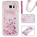 Galaxy S7 Edge Case, Firefish Slim Shock Absorption Slim Bumper Cover Anti-Slip Soft Silicone Protective Skin for Girls Children Fits for Samsung Galaxy S7 Edge -Pink