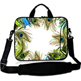 Wondertify 12-12.5 Inch Water-resistant Neoprene Laptop Shoulder Bag Sleeve Briefcase - Feather Laptop Carrying Bag Case for iPad Pro/iPad Air 2/Surface Pro 3/4/5/Ultrabook/ThinkPad/Laptop
