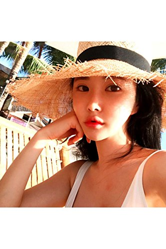 2018 Summer Burr Large Brim Straw Hat Cap Raffia Sunscreen Women Girls Summer Seaside Beach Resort