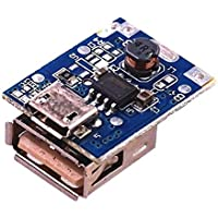 Robodo 5V Step-Up Power Module Lithium Battery Charging Board Boost Converter LED Display Usb For DIY Charger