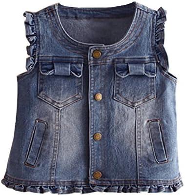 LittleSpring Little Girls Collarless Waistcoat product image