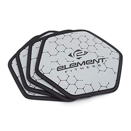 (Element Fitness Pro Exercise Gliding Discs - Smooth Gliding On Any Surface - for Core Strength Training)