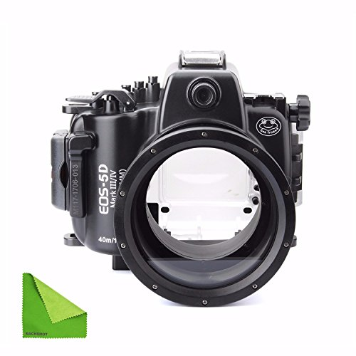 SeaFrogs 40M 130ft Diving Waterproof Housing Case for Canon 5D III IV 5D3 5D4 Supports 24-105mm Lens by SeaFrogs